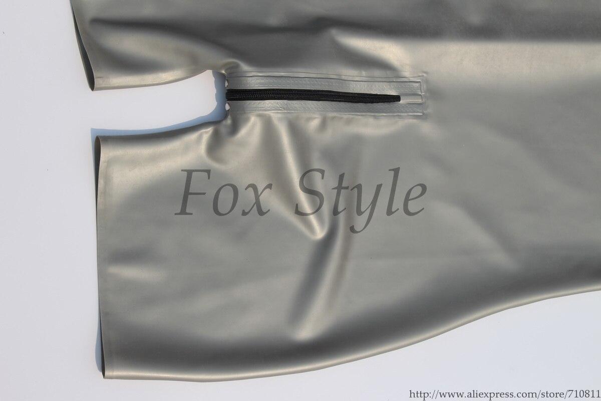 100% handgefertigte Qualität Italien Metallic Silber Argent Latex - Herrenbekleidung - Foto 5