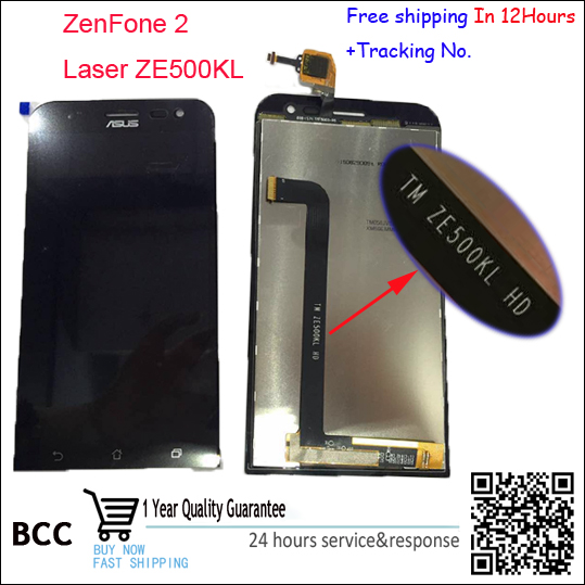 ФОТО 100% New Tested LCD Display Touch Screen digitizer Panel Replacement Assembly For Asus Zenfone 2 Laser ZE500KL 5.0