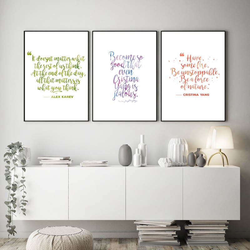 Grey S Anatomy Inspirational Quotes Prints Dorm Wall Decor