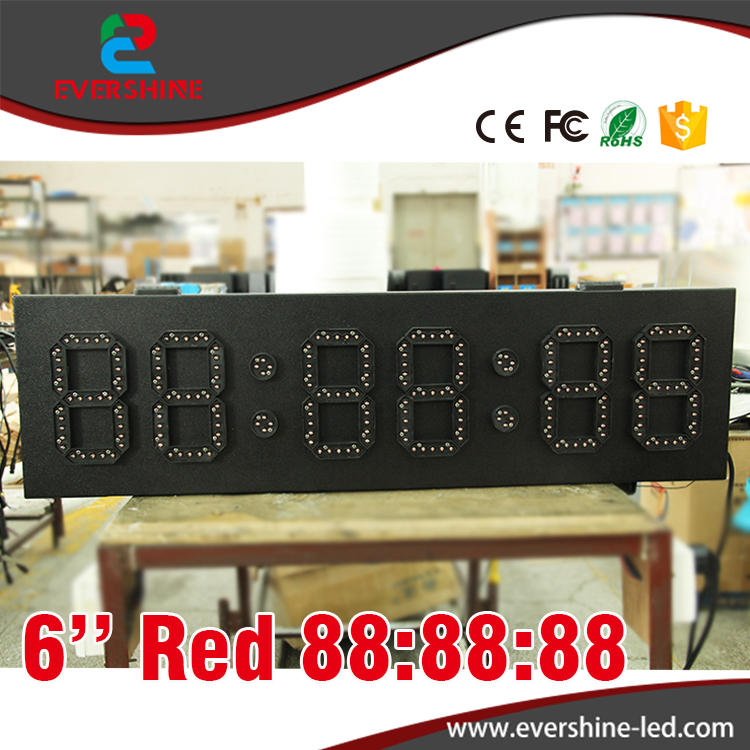 6'' high brightness red 6 digit 7 segment outdoor clock panel gas station led price sign 100 pcs ld 3361ag 3 digit 0 36 green 7 segment led display common cathode
