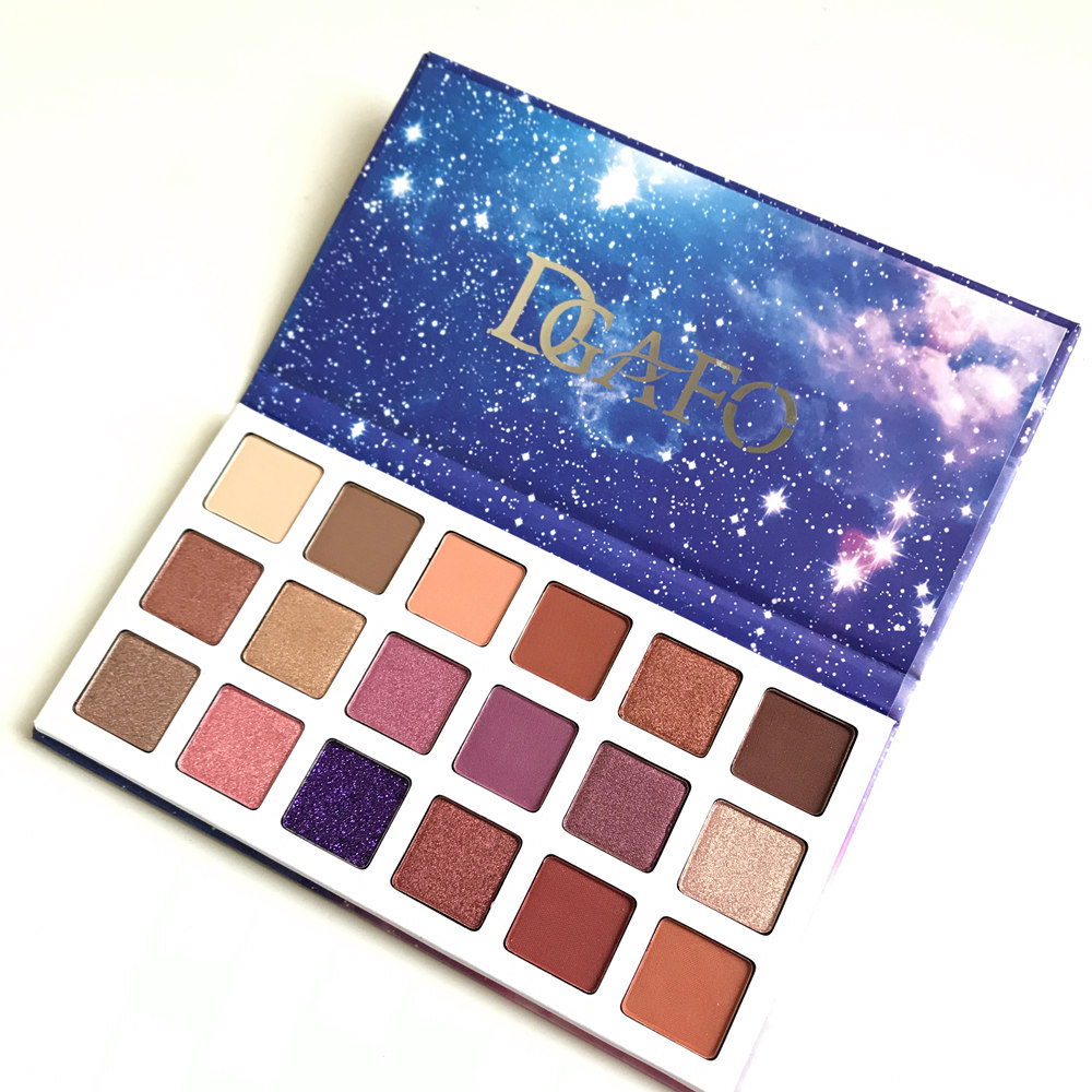 DGAFO Brand 18 Colors Glitter Eyeshadow Pallete Matte & Shimmer Eye shadow Palette Make Up Cosmetic Drop Shipping