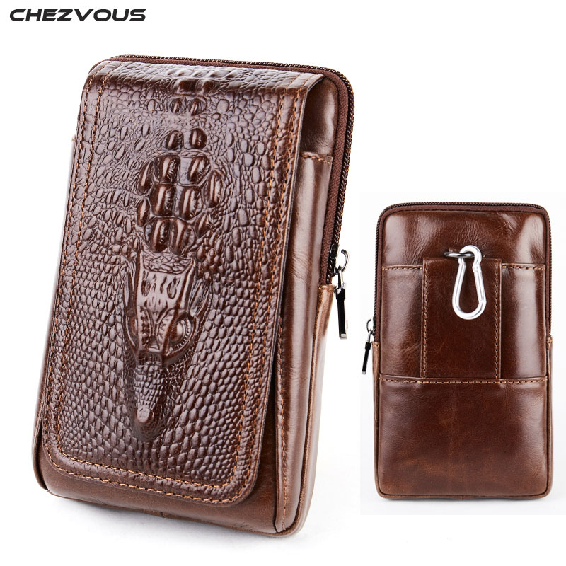CHEZVOUS Phone Pouch Belt Clip Case for iPhone 7 8 6 X Retro 
