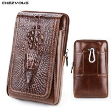 CHEZVOUS Phone Pouch Belt Clip Case for iPhone 7 8 6 X Retro Crocodile Pattern Waist Pack for iPhone 6 7 8 plus 5s Holster 6.0
