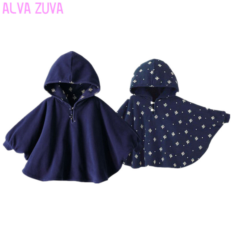 Hot sale ! 2017 Fleece Baby Coat Bebe Cloak Two-sided Outwear Floral Baby Poncho Cape Infant toddler newborn Baby Coat
