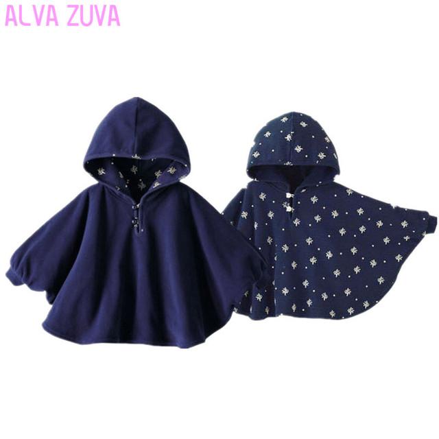 Venda quente! 2016 Fleece Bebê Casaco Bebê Manto frente e verso-Floral Outwear Poncho Capa Casaco Infantil criança Bebê recém-nascido Do Bebê