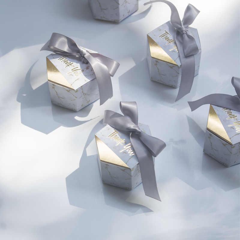 50 teile/los Marmorierung stil Geschenke Box Hochzeit Gefälligkeiten und Candy Boxen Party Supplies Baby Dusche Papier Schokolade Boxen Paket