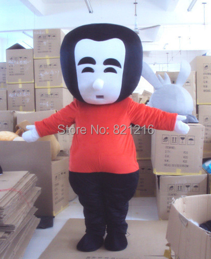 people man cartoon mascot costume for adults christmas halloween outfit fancy dress suit free shipping - Halloween Costume For Fat People