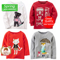 Baby Toddler Girl Cotton Long Sleeve T-shirt Infant Spring Clothing Tee Top For 9m 12m 18m 24m Free shipping
