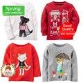 Da Criança do bebê Da Menina do Algodão T-shirt de Manga Comprida Infantil Primavera Roupas Tee Superior Para 9 m 12 m 18 m 24 m Frete grátis