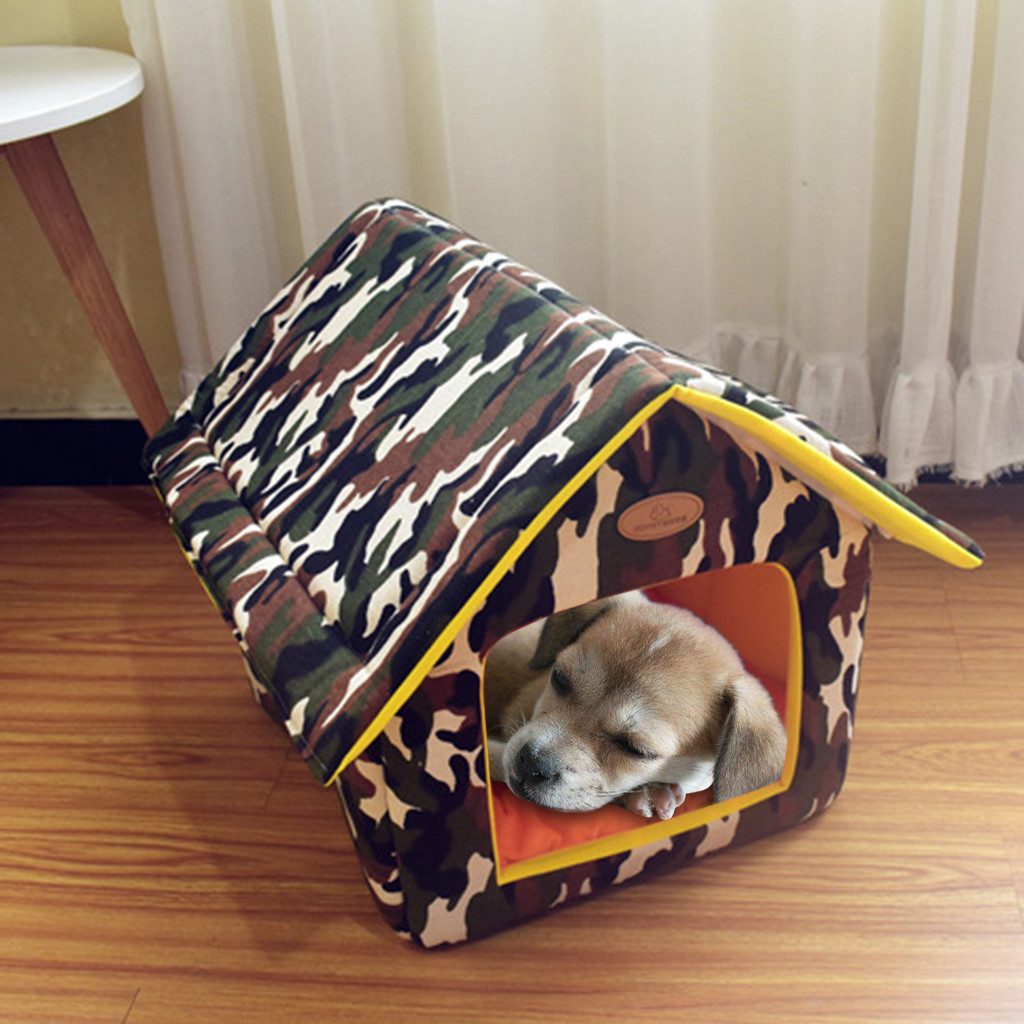 Portable Indoor Pet Bed Dog House Soft Warm Cozy Comfortable Cat Dog Sweet Room