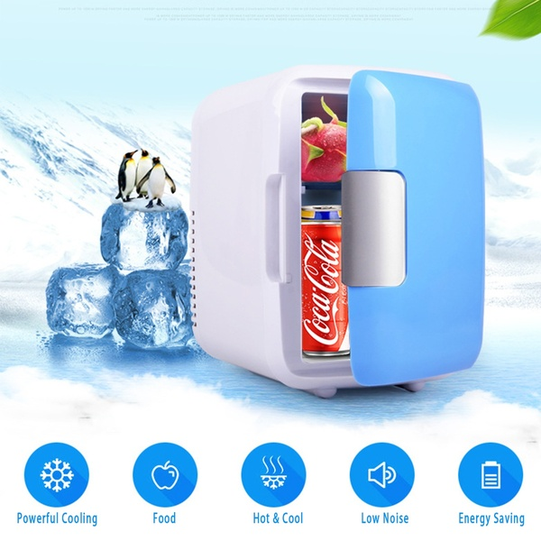 Mini Portable Cosmetic Heating Refrigerators Fridge Freezer Cooler Dual-use Warmer Cooling For Outside  Home Office Dormitory