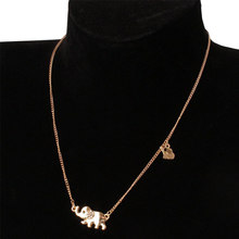 LNRRABC Crystal Elephant Korean Style Water-wave Chain Family Adjustable Graceful Environmental Pendant Necklaces(China)