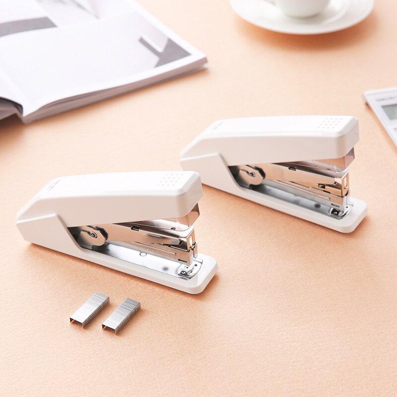 Effort stapler one finger press easy office 20 pages large thick standard stapler deli 0395 stapler heavy duty stapler thick layer of stapler wholesale and retail