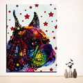 Large size Print Oil Painting Wall painting boxer love dogs Home Decorative Wall Art Picture  Living Room paintng No Frame