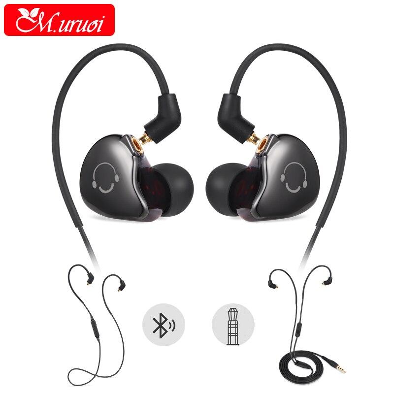 M.uruoi Bluetooth Kulakl k Wireless+Wired In-Ear Earphone Handsfree With Microphone Sports MP3 For iphone 7 Samsung Headphones