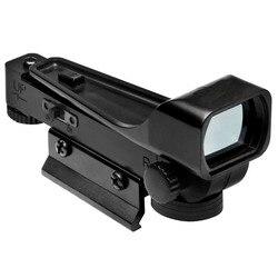 Caça red dot Tactical Airsoft mira Reflex Red Dot Scope Wide View Airgun Mounts1x20x30 10 ou 20mm Weaver Rail riflescope