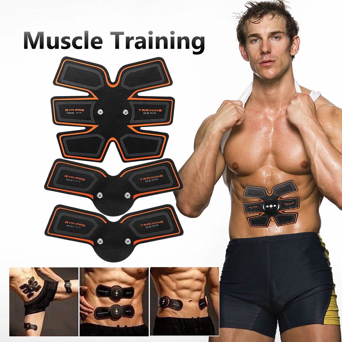 Smart EMS Muscle ABS Fit Training Gear Abdominal Body Home Exercise Shape Fitness Set Abs Fit Muscles Intensive Training