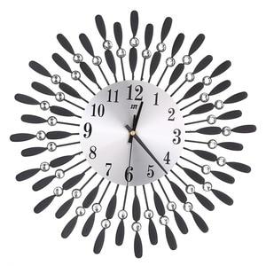 Image 4 - 新 3D 大壁時計クリスタル太陽モダンなスタイルサイレント時計リビングルームのためのオフィス家の装飾