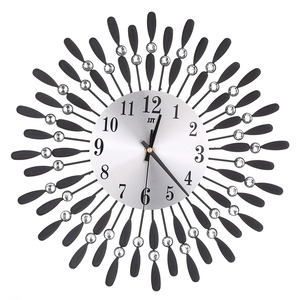 Image 4 - Newly 3D Large Wall Clock Crystal Sun Modern Style Silent Clocks for Living Room Office Home Decoration