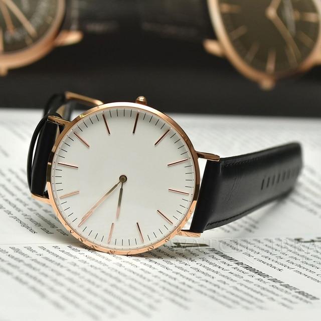 Marca de lujo para hombre de acero inoxidable pulsera de moda reloj de cuarzo de plata de oro rosa reloj de hombre estilo de los hombres vestido reloj 40mm