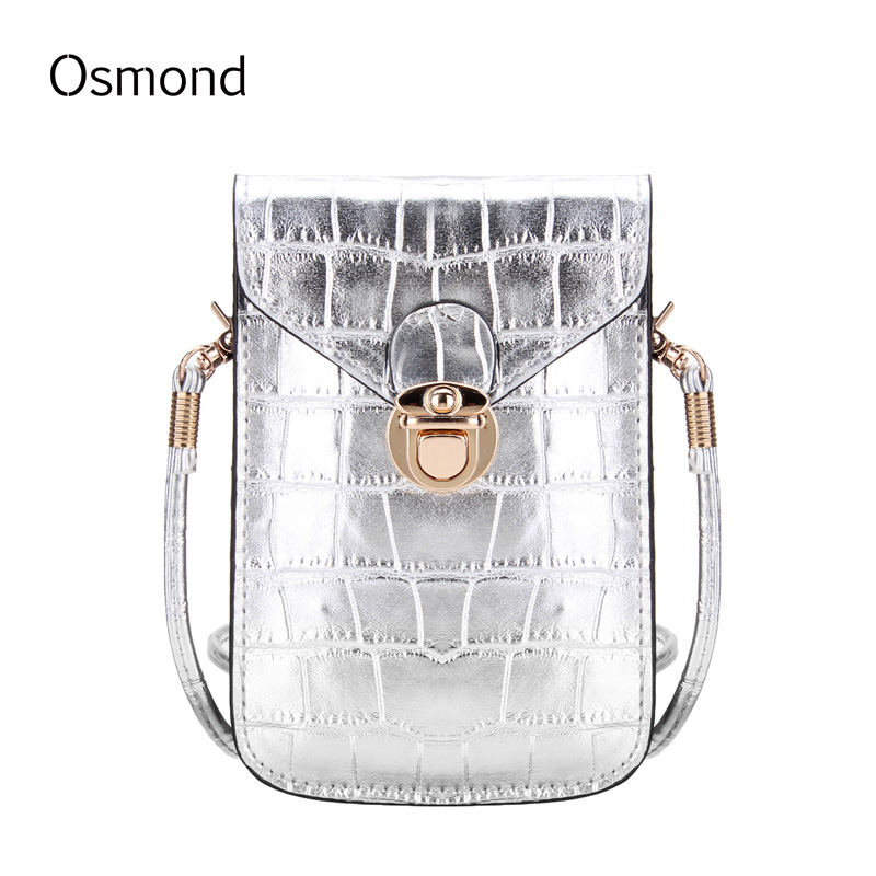 Osmond Women Handbag Messenger Bags Clutch Female Small Shoulder Bags Women Crocodile Grain Leather Crossbody Bag Vintage Solid