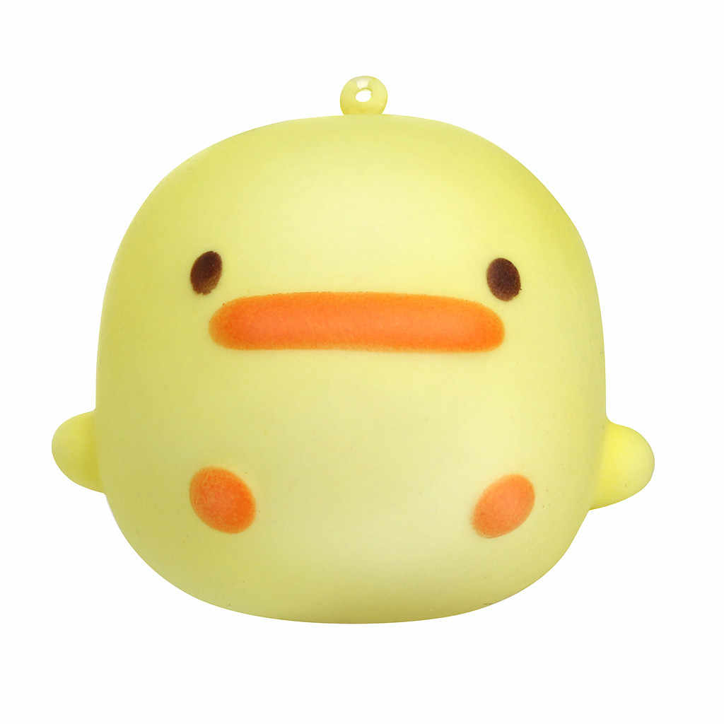 Fun Crazy Yellow Duck Scented Squishi Charm Slow Rising 7cm Simulation Kawaii Reliever Toy Smooshy Soft Starting   L424