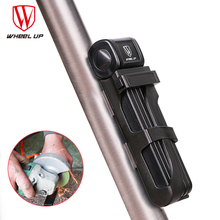 WHEEL UP Upgrade Bicycle Lock Alloy Steel Foldable Chain Anti-theft Security Motorcycle Cycling Folding