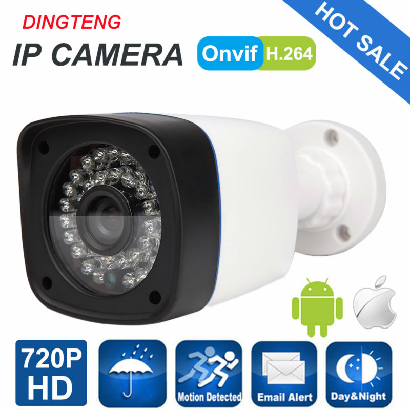 720P 1MP IP Camera Outdoor Cam HD Security CCTV Camera Bullet ONVIF Waterproof Night Vision IR Cut P2P ONVIF ABS Plastic