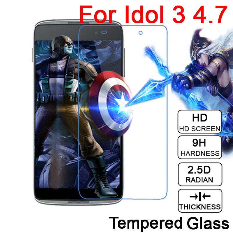 0.26mm 9H LCD Tempered Glass Film For <font><b>Alcatel</b></font> OneTouch <font><b>IDOL</b></font> 3 <font><b>4</b></font> 4S OT 6039Y 6045 6055 6070 <font><b>4</b></font>.7&#8243; 5.2&#8243; 5.5&#8243; Screen Protector film