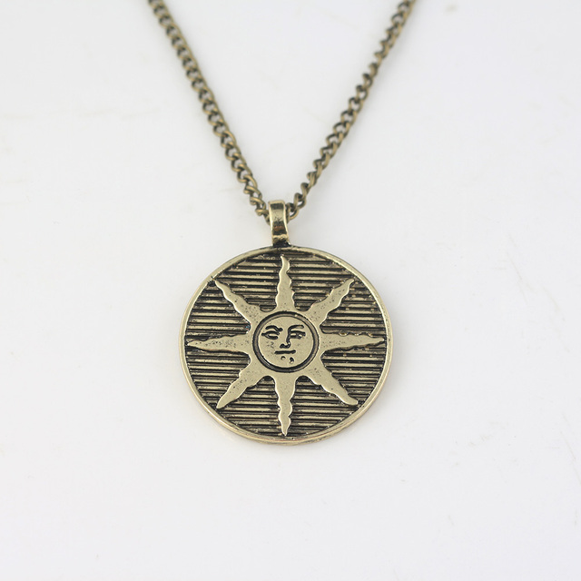 Dark souls solaire of astora sun pendant necklace summer jewelry for dark souls solaire of astora sun pendant necklace summer jewelry for men women accessories gift aloadofball Image collections