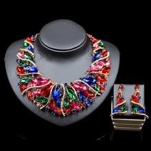 LAN ДВОРЕЦ дешево афро украшения для женщин обручальное ожерелье и серьги свадебные украшения шесть цветов бесплатная доставка