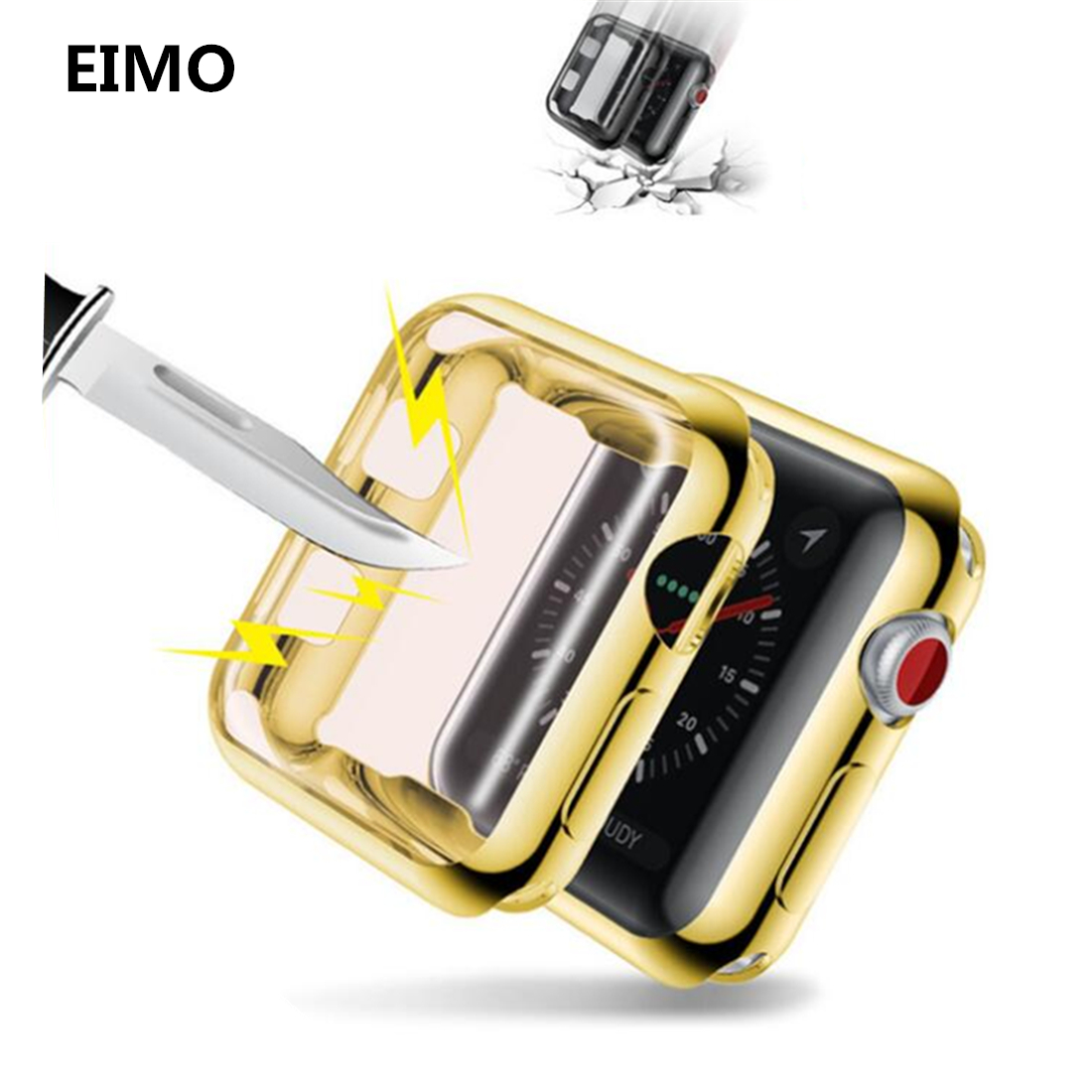 Watch Cover For Apple Watch Case 42mm/38mm screen protector iwatch band 3 2 1 protective frame soft All-around Ultra-thin series 1 2 3 soft silicone case for apple watch cover 38mm 42mm fashion plated tpu protective cover for iwatch