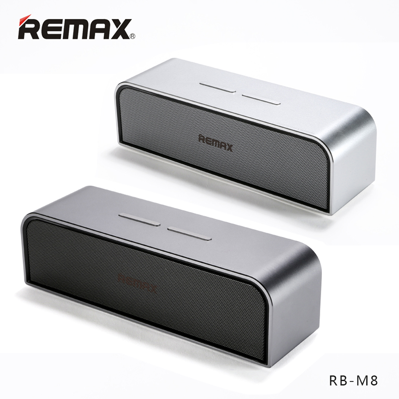 все цены на REMAX RB-M8 Portable Bluetooth4.0 Speakers Aluminum Wireless HandFree MIC Boombox Subwoofer USB AUX Port Loudspeaker Clear Bass онлайн