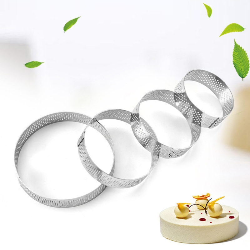Round Mini Cake Mousse <font><b>Mold</b></font> <font><b>Stainless</b></font> <font><b>Steel</b></font> Cookie Cutter French Mousse Cake Ring Kitchen Baking Tool Fondant <font><b>Cheese</b></font> Decor image