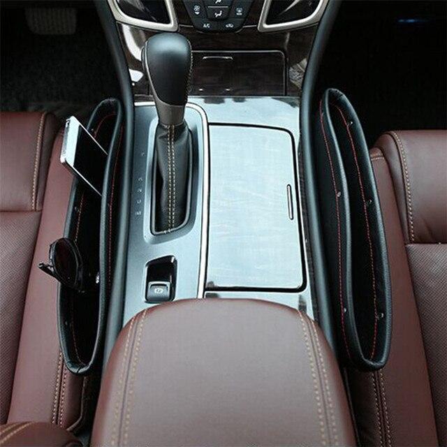 Universal Car Seat Console Gap Filler Pocket Seam Storage Box Catcher For BENZ