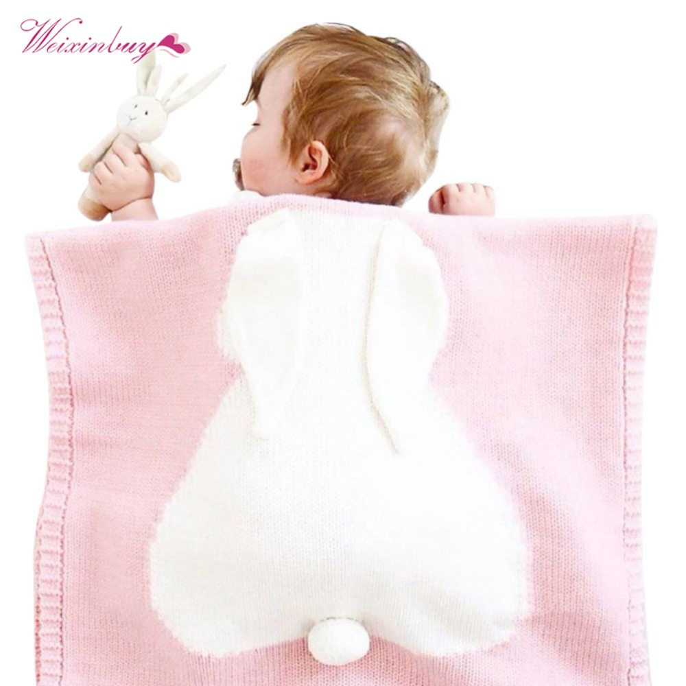 cc6197bdcf WEIXINBUY 5 Colors Baby Blankets Rabbit Crochet Newborn Blanket Kids  Personalized Cotton Bedding Cover Babies Blankets-in Receiving Blankets  from Mother ...