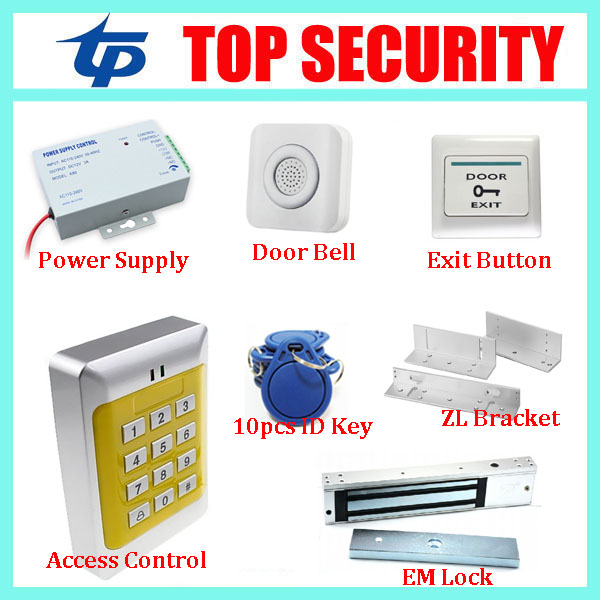 Good quality 125KHZ RFID card door access control reader single door proximity smart ID card access control system smart card reader door access control system 125khz smart rfid card proximity card door access control reader 10pcs rfid keys