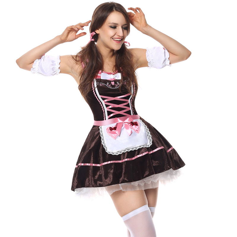 14a4920adc4 Plus Size German Beer Girl Costumes Sexy Halloween Party Sexy Role Playing  Maid Costumes For Women Oktoberfest Fancy Dress -in Sexy Costumes from  Novelty ...