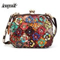 AEQUEEN Women Genuine Leather Shoulder Bags Crossbody Messenger Bag Diamond 3D Flower Patchwork Evening Cultch Bag Random Color