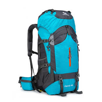 60L Camping Hiking Backpack Mountaineering Bag Large Capacity Trekking Rucksack Outdoor Backpack Hiking Camping Bags aluminum - DISCOUNT ITEM  43% OFF Sports & Entertainment