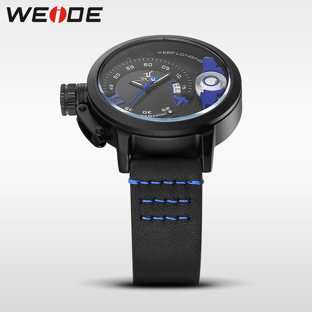 WEIDE watches brand luxury men quartz sports wrist watch casual genuine water resistant analog leather men's watch Schocker 1606 alike ak1391 sports 50m water resistant quartz digital wrist watch black orange