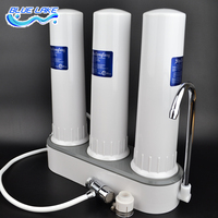 3 level filter water purifier,ABS shell, Faucet mounted ,descaling,more pure and secure,Reusable Filter,Replaceable cartridge