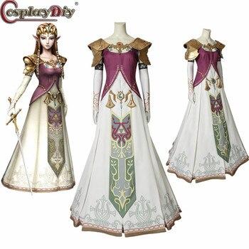 Zelda Cosplay Cosplaydiy Hecho Disfraz Princesa Medida A Ropa Leyenda Princess Vestido Twilight De La Halloween srQChtd