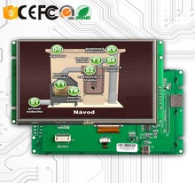 цена на display monitor 5 inch lcd with touch screen and RS485 inteface