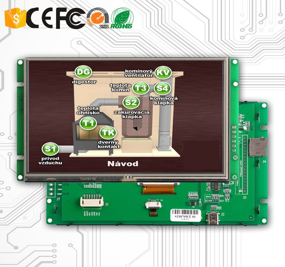 Display Monitor 5 Inch LCD With Touch Screen And RS485 Inteface