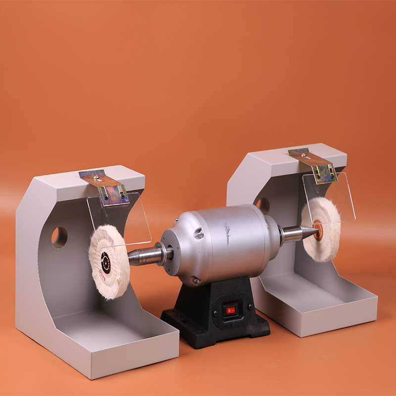 Double motor dental lab cutting and polishing lathe for polishing dental castings and jewelry in laboratory