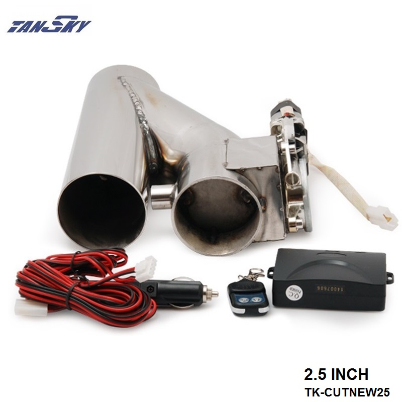 TANSKY - 2.5 EXHAUST CATBACK TURBO ELECTRIC E CUTOUT Y PIPE WITH REMOTE For FORD MUSTANG GT/SVT V8 AT 97-04 TK-CUTNEW25 walker 88030 exhaust y pipe