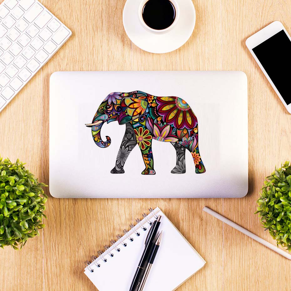 Elephant Deer Sea Horse Flower Pattern Wall Sticker For Computer Decoration Removable Decals Ethnic Unique style Living Room semi formal summer dresses