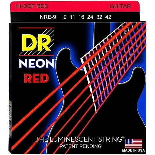 dr k3 hi def neon red luminescent electric guitar strings light 09 42 or medium 10 46 in guitar. Black Bedroom Furniture Sets. Home Design Ideas