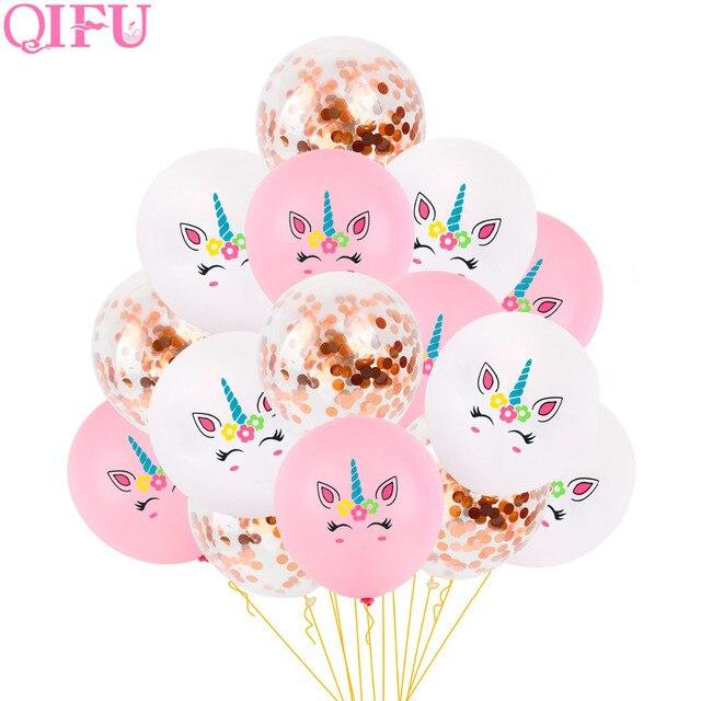 Qifu Unicorn Decoration Birthday Party Decorations Kids Latex